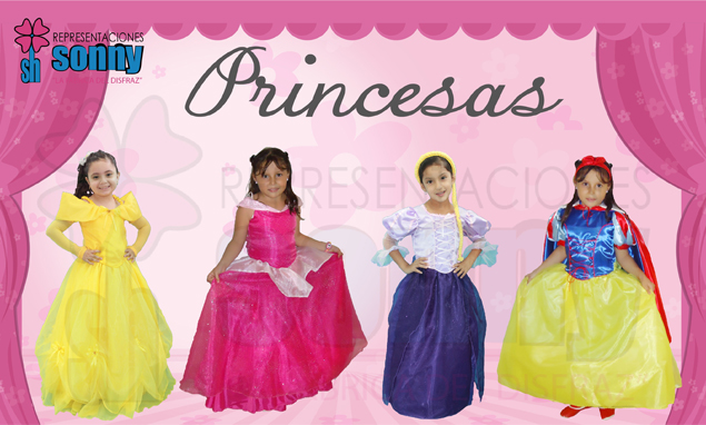 Catalogo de disfraces de princesas para ni�as
